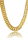 Men\'s Chain Necklaces Circle Line Platinum Plated Gold Plated Gold Filled Alloy Personalized Golden Jewelry ForGift Daily Casual Sports