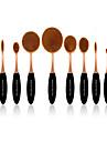 10 Conjuntos de pincel Pelo Sintetico Profissional / Cobertura Total Plastic Rosto / Olhos / Labio MAKE-UP FOR YOU