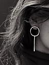 Серьги-гвоздики Серьги-кольца Медь Простой стиль Серебряный Золотой Бижутерия Для вечеринок Повседневные 1 пара