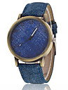 Men/Women Color Case Denim Fabric Band Analog Quartz Wrist Watch Cool Watch Unique Watch