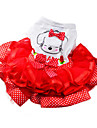 Cat / Dog Dress / Clothes/Clothing Red / Green / Yellow Summer / Spring/Fall Bowknot Fashion
