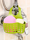 Adjustable Snap Sponge Faucet Storage Rack Drain Bag