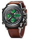 Hombre Reloj de Pulsera Cuarzo Japones LED / LCD / Calendario / Resistente al Agua / alarma / Luminoso / Reloj Casual Piel Banda camuflaje