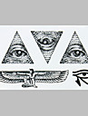 Fashion Tattoo Black Angell  Eye Waterproof Tattoo Stickers
