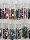 만화 / 추상화 / 러블리 / 웨딩-핑거 / 발가락 / 이 외-네일 쥬얼리 / 다른 데코레이션-아크릴 / 이 외-1set small bottle star jewelrys have 12 colors design-5*5