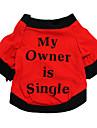 猫用品 / 犬用品 Tシャツ レッド / ブラック 犬用ウェア 夏 / 春/秋 花/植物 ファッション