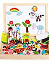 den nye magnetiske dpell dpell glede, vhildren er eooden puslespill, baby pedagogiske laering leker-the bytrafikk