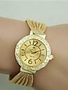 Женские Модные часы Часы-браслет Имитация Алмазный Кварцевый сплав Группа Черный Серебристый металл Коричневый Золотистый