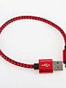 USB 2.0 Braided Aluminum Cables 25cm