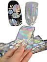 1pcs 100 * 4cm transparente a laser unha arte brilho adesivos diy bela flor geometrica imagem Prego beleza lt05-08
