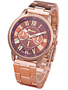 Femme Montre Tendance Quartz Montre Decontractee Alliage Bande Or Rose