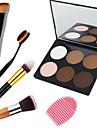 3in1 Contour Makeup Set(6 Color Bronzer&Highlighting Powder Bright&Matte Cosmetic Palette+1 Contour Brush+1 Brush Egg)
