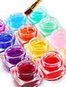 12PCS Mixed Color Pure Color UV Builder Gel UV Color Gel Polish Set Nail Art Decoration(8ML)