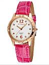 SYNOKE Women\'s Fashion Watch Simulated Diamond Watch Casual Watch Quartz Japanese Quartz Leather Band Red Pink Purple