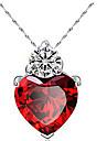 Ожерелье Ожерелья с подвесками Бижутерия Повседневные В форме сердца Сердце Женский 1 комплект Подарок Красный Лиловый