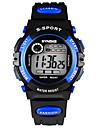Nino Reloj de Pulsera Digital LCD / Calendario / Cronografo / Resistente al Agua / alarma / Luminoso Caucho Banda Negro Marca-
