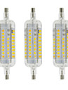 4W R7S Ampoules Mais LED T 60 SMD 2835 350-400 lm Blanc Chaud Blanc Froid Impermeable Decorative AC 100-240 V 3 pieces