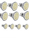 4W GU10 / GU5.3 (MR16) / E26/E27 LED-spotlampen MR16 60SMD SMD 2835 300 - 400LM lm Warm wit / Koel wit DecoratiefAC 220-240 / DC 12 / AC