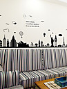 Big Size European Style Building Architecture Cucoloris Wall Stickers DIY Environmental Living Room Wall Decals