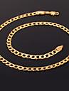 u7® 18k коренастый золота заполнены ожерелье Figaro цепи высокого качества ожерелья цепь Franco для мужчин 5мм 55cm ювелирные изделия