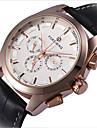 남성 스켈레톤 시계 손목 시계 기계식 시계 중공 판화 오토메틱 셀프-윈딩 가죽 밴드 블랙