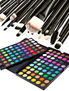120 Colors Professional Dazzling Matte&Shimmer 3in1 Eyeshadow Makeup Cosmetic Palette with 20 Eyeshadow Brush Set