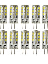 2,5 W G4 Luminarias de LED  Duplo-Pin T 24 SMD 2835 180-200 lm Branco Quente Branco Frio Decorativa Regulavel DC 12 V 10 pcs