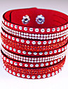 Fashion Classic Vintage Rivet Rhinestone Leather Bracelets for women Christmas Gifts