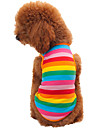 Cat / Dog Shirt / T-Shirt Rainbow Summer / Spring/Fall Stripe Fashion