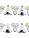 3W GU4(MR11) Декоративное освещение MR11 12 SMD 5730 380LM lm Тёплый белый / Холодный белый Декоративная 9-30 V 10 шт.
