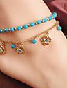 Femme Bracelet de cheville/Bracelet Alliage Mode Forme de Fleur Bijoux Pour Quotidien Decontracte 1 piece
