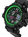 SANDA® Men\'s Fashion Sport Analog Digital Double Time LCD Screen Waterproof Rubber Watch Fashion Wrist Watch Cool Watch