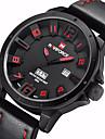NAVIFORCE® Luxury Brand Men Military Army Fashion 3D Face Analog Date Day Quartz Leather Watch Fashion Wrist Watch Cool Watch