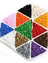 beadia 25g (приблизительно 300pcs) 3x3mm квадратный стеклянный бисер Spacer свободные шарики