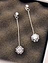 Women\'s Drop Earrings Fashion Silver Sterling Silver Zircon Cubic Zirconia Geometric Jewelry For Party Daily