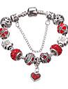 Femme Filles´ Charmes pour Bracelets Bracelets de rive Alliage Strass Plaque argent Imitation de diamant Durable Mode AdorableForme