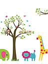 Животные / ботанический / Мультипликация / Натюрморт / Мода / Отдых Наклейки Простые наклейки Декоративные наклейки на стены,PVC материал