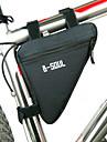 B-SOUL® Велосумка/бардачокБардачок на раму Водонепроницаемая застежка-молния Пригодно для носки Влагонепроницаемый Ударопрочность