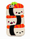 3D Cute Sushi Silicone Case for iPhone5/SE iPhone 6s/6/6s Plus/6 Plus