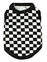 katten / honden T-shirt Zwart Hondenkleding Zomer Geruit Modieus Pething®