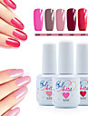 8 PCS/Set Nail Polish UV Gel Soak-off LED UV Gel 6 Color with Top/Base Coat