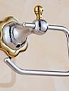 Porte Papier Toilette / Miroir Poli / Fixation Murale /5.9*3.9*1.96 inch /Laiton /Contemporain /15CM 10CM 0.4