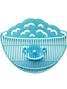Clip-on Design Colanders Smilling Face Kitchen Strainers Drainer