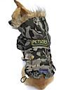 Gatos / Perros Abrigos / Saco y Capucha Color Camuflaje Ropa para Perro Invierno camuflaje Moda / Mantiene abrigado / Paravientos: