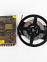 Z®ZDM 5M 100W 600*7020 SMD Cold White Flexible LED Light and AC100-240V To DC12V 8.5A Transformer