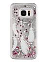 Для Samsung Galaxy S7 Edge Движущаяся жидкость / Прозрачный / С узором Кейс для Задняя крышка Кейс для Перо Твердый PC SamsungS7 edge /