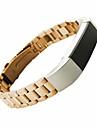 Noir / Dore / Argente Style Moderne / Metallique Bracelet Sport / Boucle Moderne Pour Fitbit Regarder 10mm