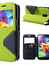 Pour Samsung Galaxy Coque Etuis coque Porte Carte Avec Support Avec Ouverture Clapet Coque Integrale Coque Couleur unie Cuir PU pour