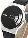 Women\'s Fashion Quartz Wrist Casual Watch Leather Belt Round Dial Fan-shaped Number Watch Cool Watch Unique Watch