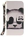 Corpo Completo Entrada de Cartao / com suporte / Giro Animal Couro Ecologico Duro Case Capa Para AppleiPhone 6s Plus/6 Plus / iPhone 6s/6